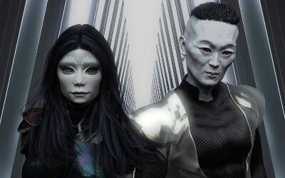 Nir'Han and Ank'ha Jin of the Galactic Federation